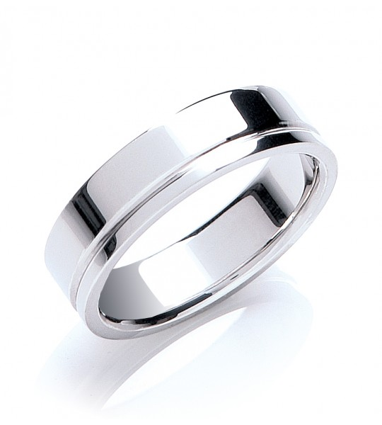 6MM FLAT COURT SIDE GROOVE WEDDING BAND