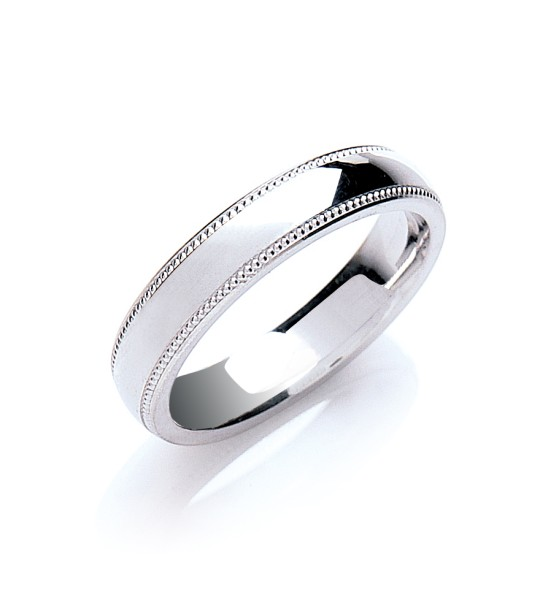 4MM COURT MILL GRAIN EDGE WEDDING BAND