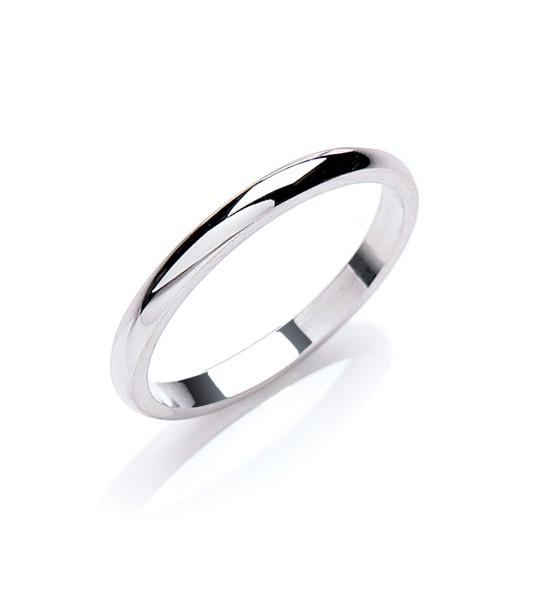 2.5MM D-SHAPE WEDDING BAND