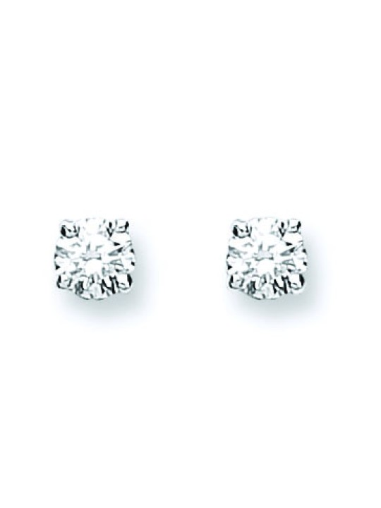 18K WHITE GOLD 0.25CT CLAW SET DIAMOND STUD EARRINGS