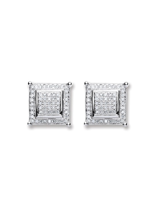 18K WHITE GOLD 0.25CT DIAMOND STUD EARRINGS