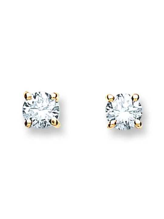 18K YELLOW GOLD 0.60CT CLAW SET DIAMOND STUD EARRINGS