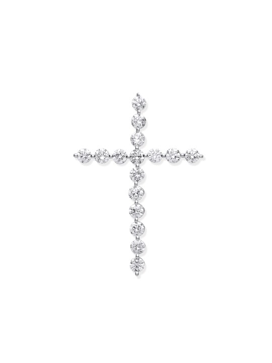 18K WHITE GOLD 0.75CT DIAMOND CROSS