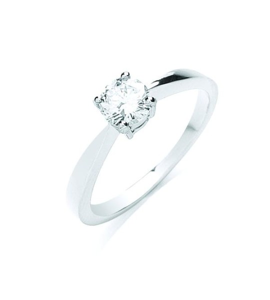 18K WHITE GOLD 0.50CT DIAMOND ENGAGEMENT RING
