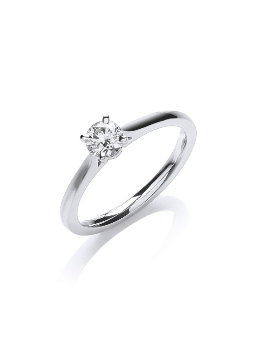 18K WHITE GOLD 0.30CT SOLITAIRE RING