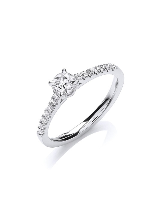 18K WHITE GOLD 0.45CT SOLITAIRE RING