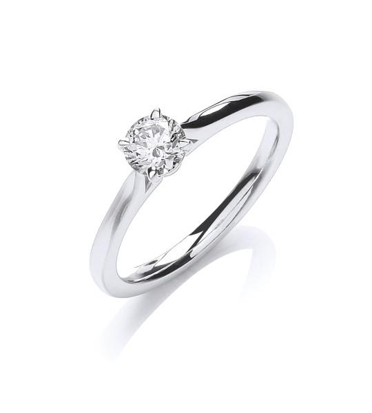 18K WHITE GOLD 0.40CT SOLITAIRE RING