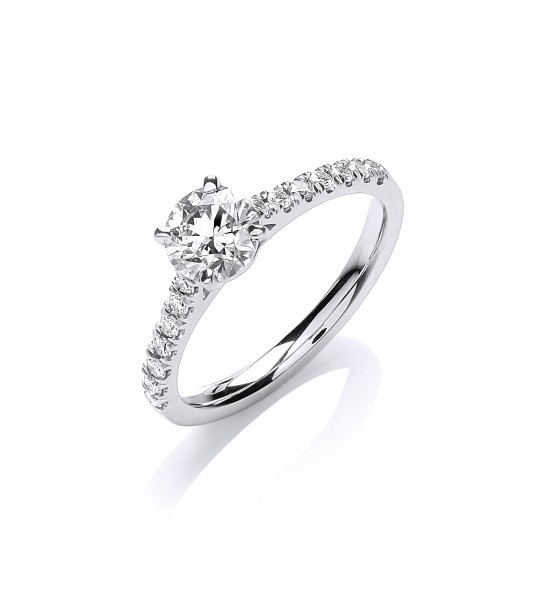18K WHITE GOLD 0.90CT ENGAGEMENT RING