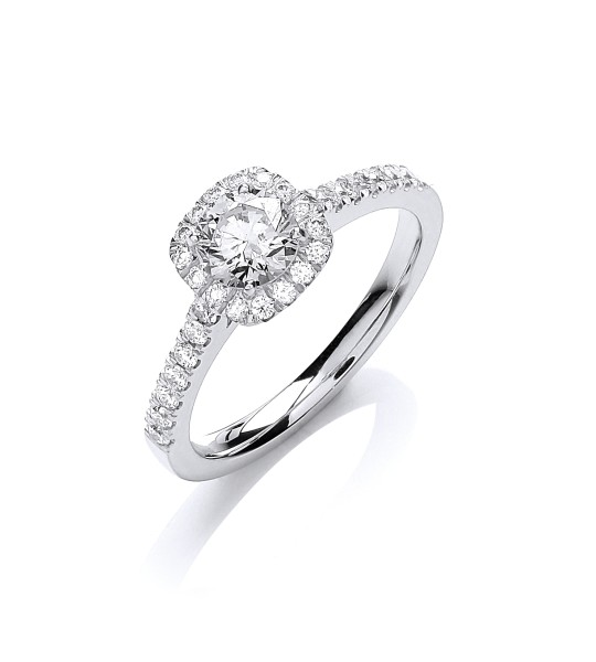 18K WHITE GOLD 0.80CT ENGAGEMENT RING