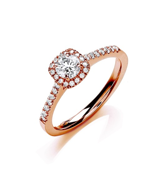 18K ROSE GOLD 0.50CT ENGAGEMENT RING